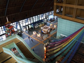 Entrance hall of the Kyushu National Museum from above