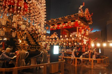 The floats or Yatai that used in festival