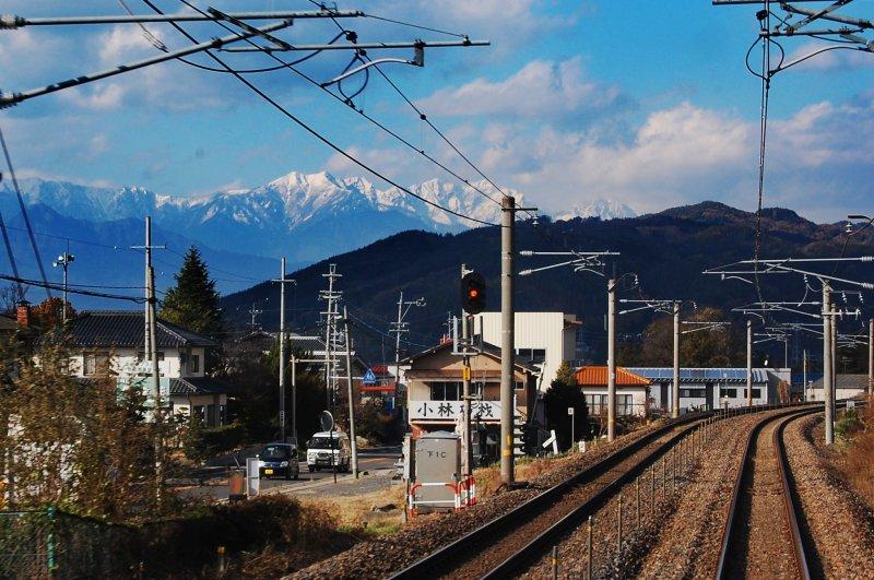 Japan's alpine views on the way to Matsumoto