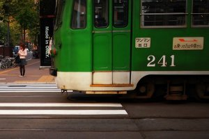 The charms of downtown Sapporo's streetcars are just a moment away from your room