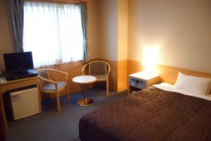 The hotel gives guests the option of Single (B) room, which is more spacious than the standard Single (A).