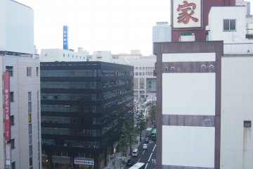 Sapporo train station is visible from the hotel, an evidence of its excellent location. Being next to the conspicuous sign of Kani Honke, it is also very easy to find!