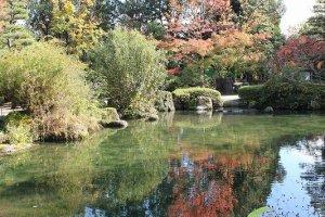 和風庭園のような美しい池