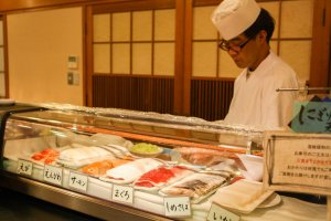 Request your favourite fish and the chef will make a fresh sashimi plate for you