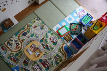 Maisonette split room with playroom below