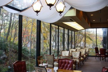 Relax at the tea lounge