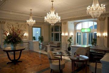 Resting area in the elegant lobby