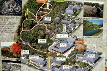 <p>Map of temple and gardens from Tenryu-ji&#39;s pamphlet</p>