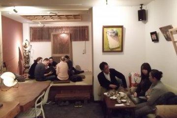 <p>Socialise in the sake bar</p>