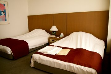 The beds, lower than usual, somehow makes it look more homey.