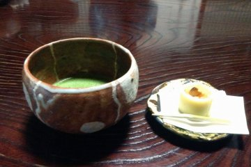 <p>Reward your travels with a sweet confection paired with a bitter matcha tea.</p>