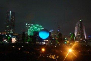新港区观看横滨夜景