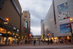 You'll hit the Heiwa Shopping Street shortly after coming out of Asahikawa station.