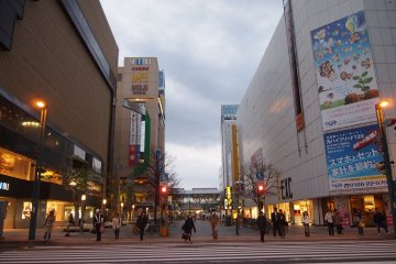 <p>You&#39;ll hit the Heiwa Shopping Street shortly after coming out of Asahikawa station.</p>