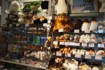 <p>Asahiyama&nbsp;Zoo products in the Tourism and Local Products Information Center.</p>