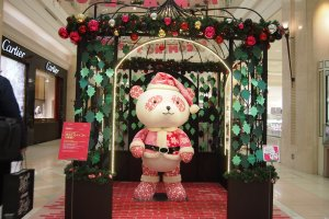 One of the major malls invented Panda Claus for the upcoming Christmas season!