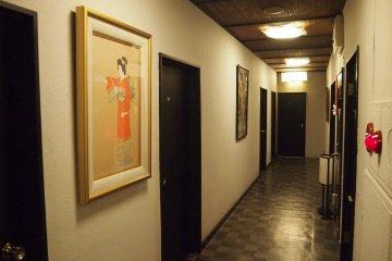 <p>The corridors in Sawanoya&nbsp;Rokyan.</p>