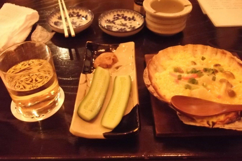 Apple juice, pickles, kaiyakimiso