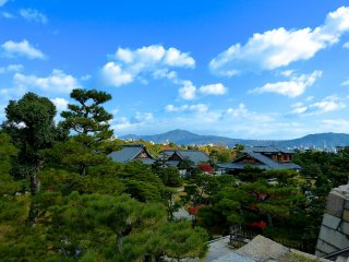 Vista aérea do Castelo Nijo-jo