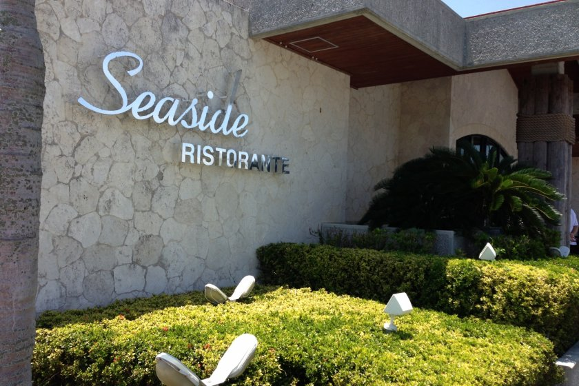 Food at the Kadena Marina's Seaside Ristorante off of Route 58 in Kadena Town is prepared and served by a staff that largely consists of contract workers from bilingual job staffing agencies