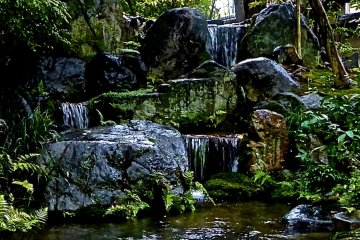 <p>Three falls at the inner most part of the garden</p>