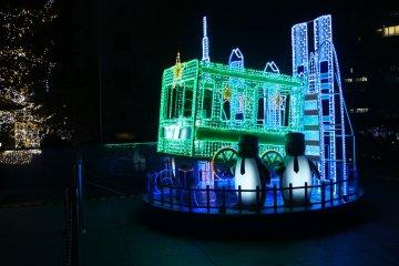 <p>The green Yamanote&nbsp;line 50th anniversary illumination&nbsp;</p>