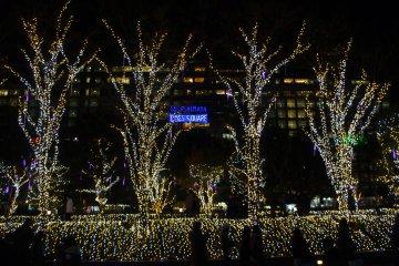 <p>Takashimaya&nbsp;department&nbsp;store seen through the wonderful Christmas lights</p>