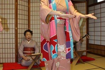<p>The Miyagi&nbsp;Prefecture folk song Saitarabushi is performed while wearing a happi coat</p>