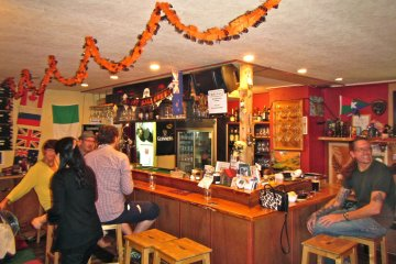 <p>The bar is all ready for Halloween</p>