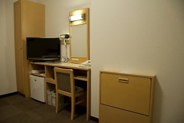 <p>Workstation and small wardrobe</p>