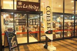Visitor center and Cafe La Neige in Echigo-Yuzawa station