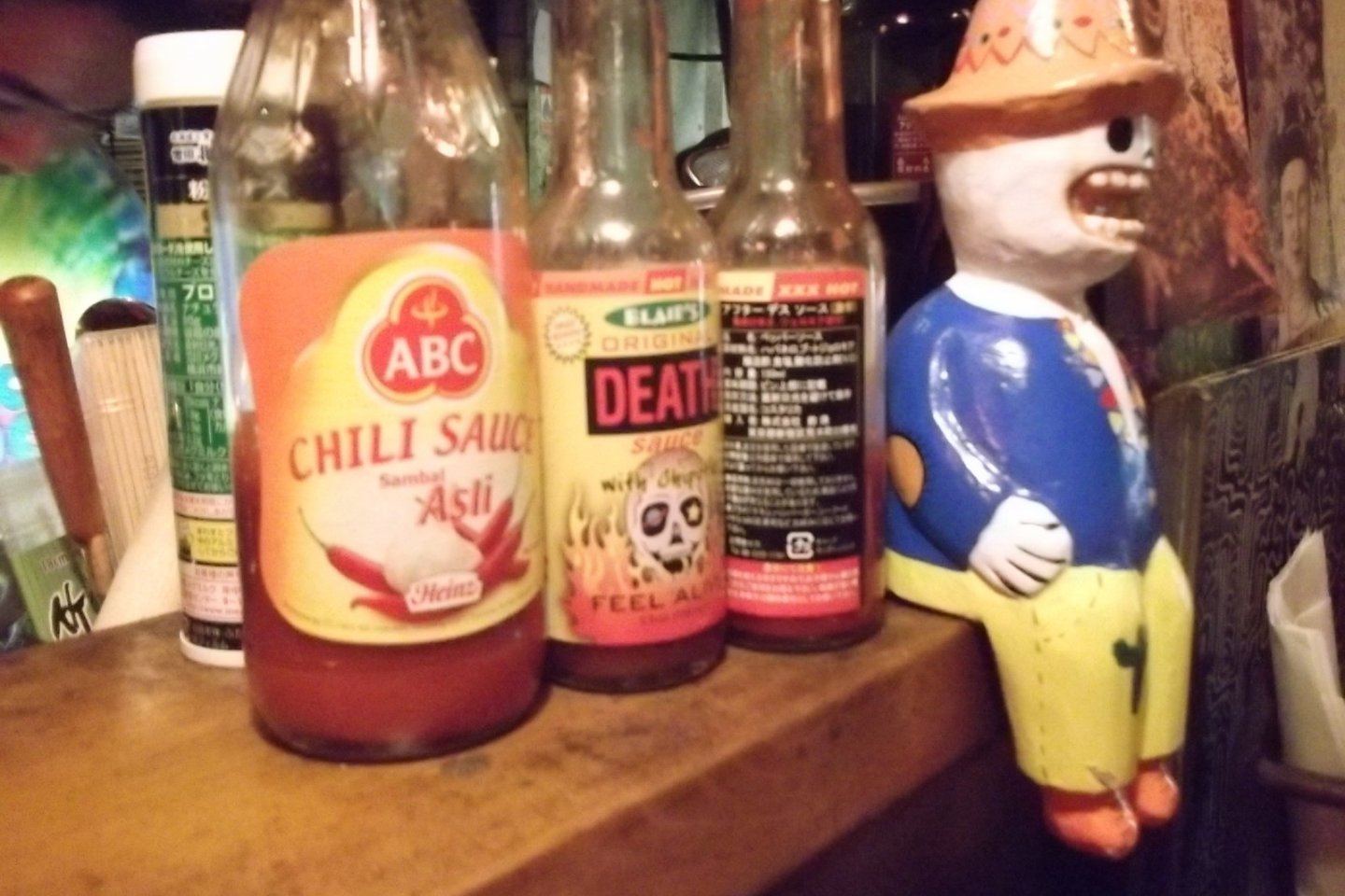 Chili, Death and another resident of the counter