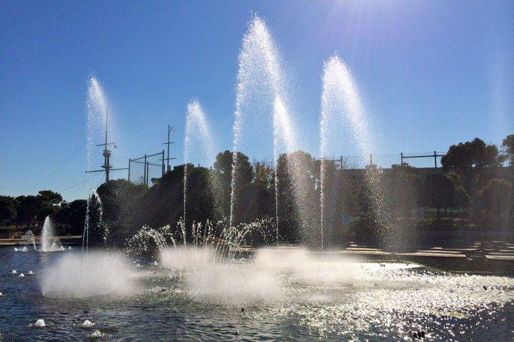 น้ำพุเต้นระบำที่สวนมิกาซา โยโกสุกะ
