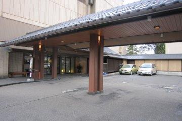 Hotel entrance. Spacious