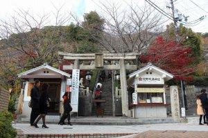 異人館巡りのコースの途中にこの「北野天満神社」はある