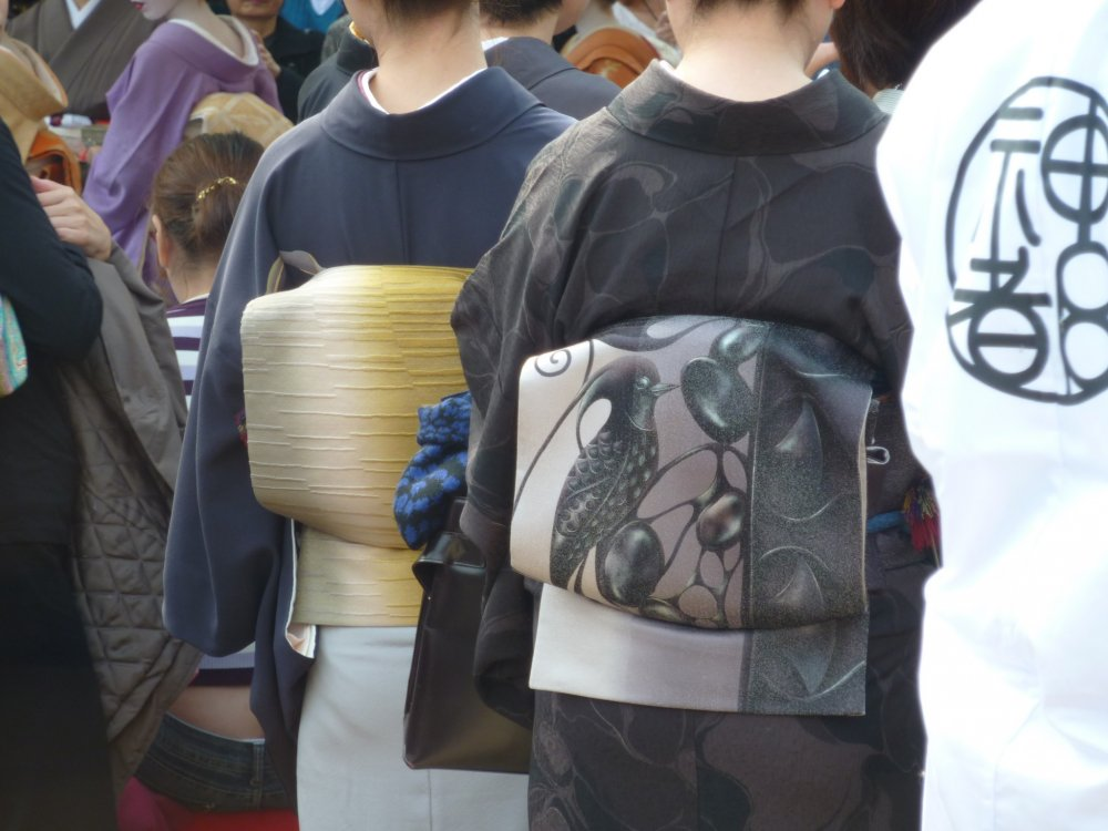 It is not unusual to see people wearing kimono at traditional festivals in Kyoto