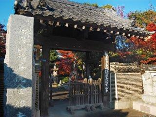 Pintu kuil yang menggiring saya masuk menuju Fukuju-in