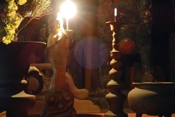 <p>Inside one of the smaller shrines</p>