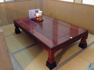 There are two tatame style tables at Ichintouya