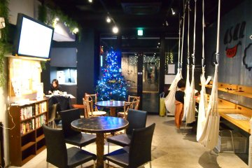 <p>The cafe dressed up for the Christmas season.&nbsp;</p>