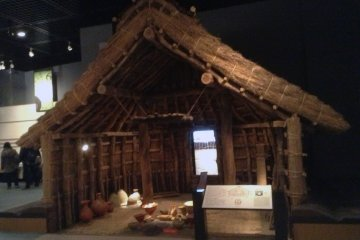 <p>A Yayoi period dwelling. A fire inside the house was used for heat and for cooking.</p>