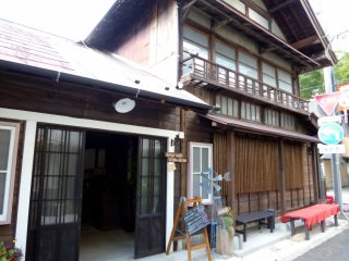 The cafe is housed in a lovely traditional Japanese building.