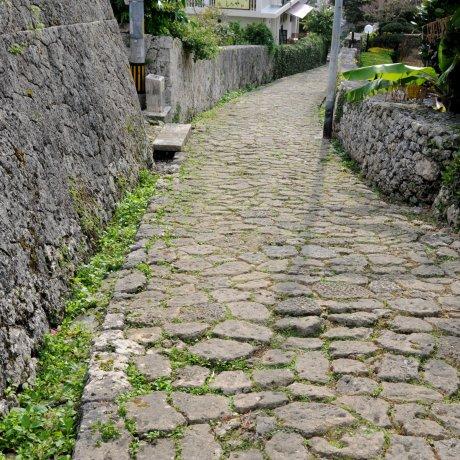 เส้นทางปูหินของกินโจะ-โชะ ที่นะระ