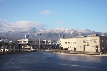 <p>From JR Furano, you can see beautiful snow-capped mountains on a clear day.&nbsp;</p>