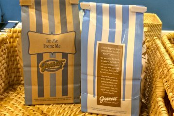 <p>Just a few of Garrett Popcorn Shops signature products</p>