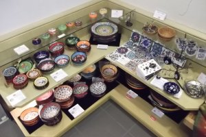 Some of the ceramics for sale in the shop