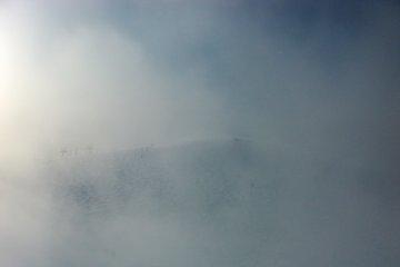<p>Summit of Karamatsu through the clouds</p>