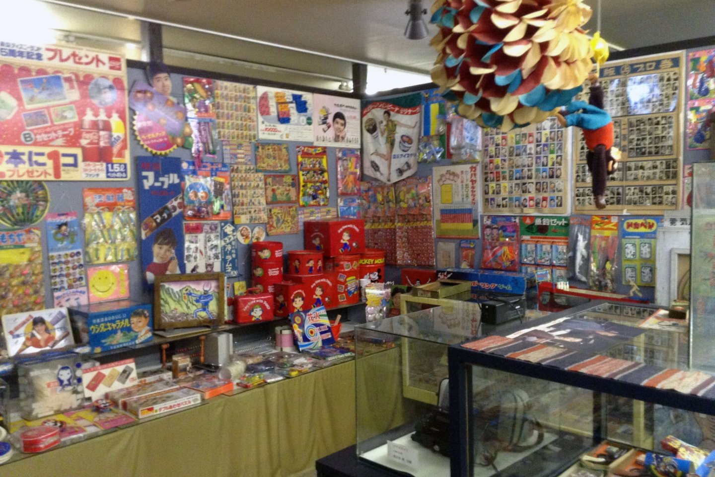 A toy corner contains items that still entertain children decades after being made.