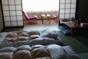 One of the Japanese style rooms.