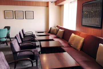 <p>The Sheraton Miyako Hotel Osaka club lounge is a peaceful haven especially during business hours</p>